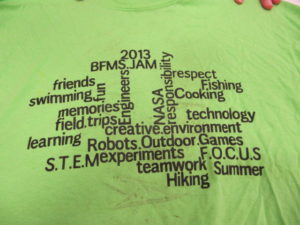 As can be seen by this t-shirt students received, STEM is a main focus of this summer program